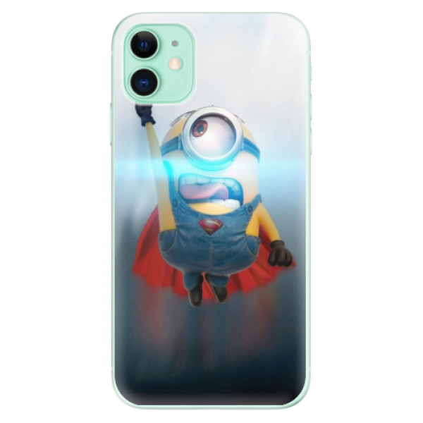Silikonové odolné pouzdro iSaprio - Mimons Superman 02 na mobil Apple iPhone 11