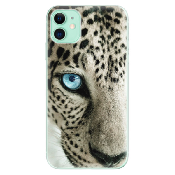 Silikonové odolné pouzdro iSaprio - white Panther na mobil Apple iPhone 11