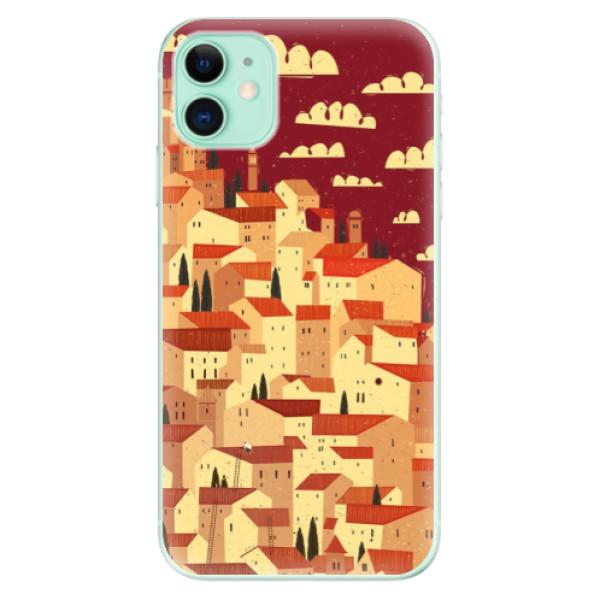 Silikonové odolné pouzdro iSaprio - Mountain City na mobil Apple iPhone 11