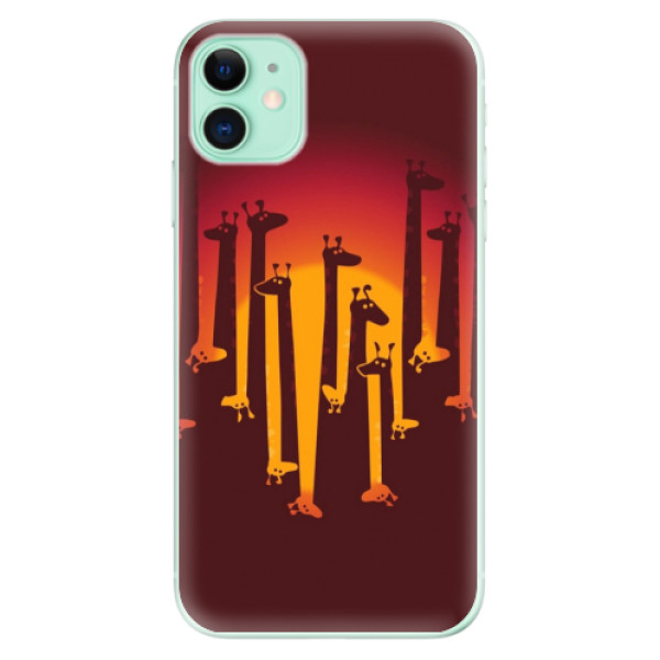 Silikonové odolné pouzdro iSaprio - Giraffe 01 na mobil Apple iPhone 11