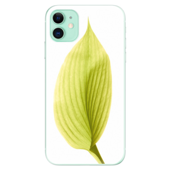 Silikonové odolné pouzdro iSaprio - Green Leaf na mobil Apple iPhone 11
