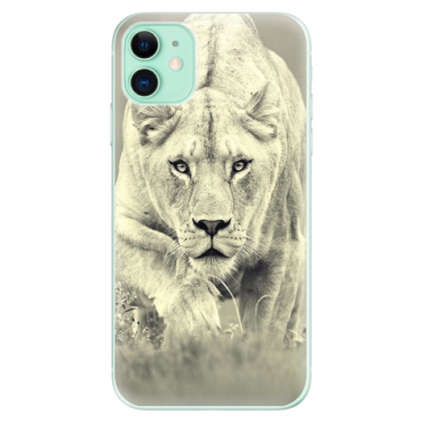 Silikonové odolné pouzdro iSaprio - Lioness 01 na mobil Apple iPhone 11