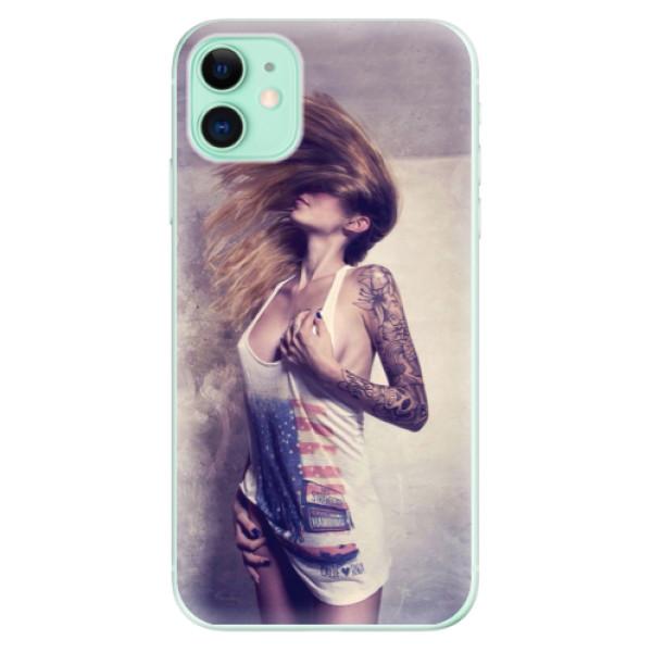 Silikonové odolné pouzdro iSaprio - Girl 01 na mobil Apple iPhone 11