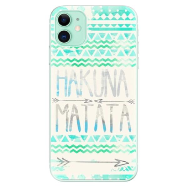 Silikonové odolné pouzdro iSaprio - Hakuna Matata Green na mobil Apple iPhone 11