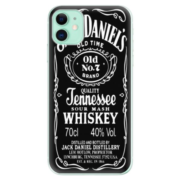 Silikonové odolné pouzdro iSaprio - Jack Daniels na mobil Apple iPhone 11