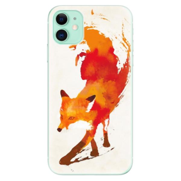 Silikonové odolné pouzdro iSaprio - Fast Fox na mobil Apple iPhone 11