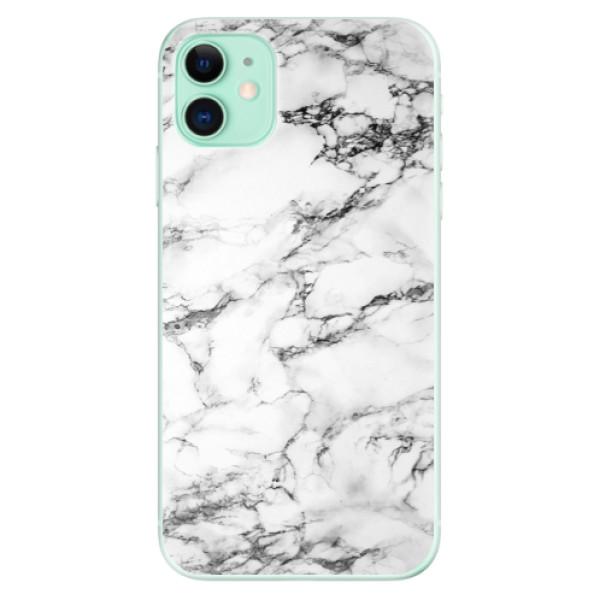 Silikonové odolné pouzdro iSaprio - white Marble 01 na mobil Apple iPhone 11