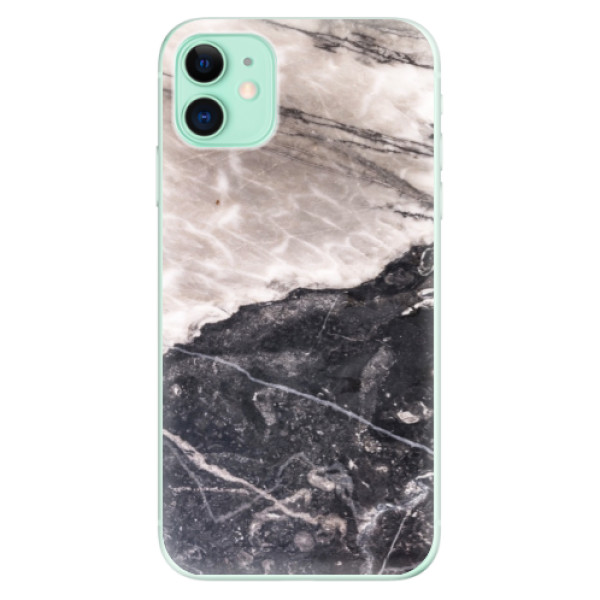 Silikonové odolné pouzdro iSaprio - BW Marble na mobil Apple iPhone 11