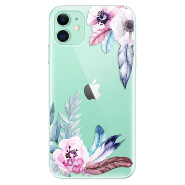 Silikonové odolné pouzdro iSaprio - Flower Pattern 04 na mobil Apple iPhone 11