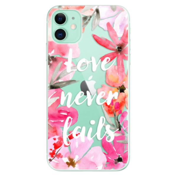 Silikonové odolné pouzdro iSaprio - Love Never Fails na mobil Apple iPhone 11