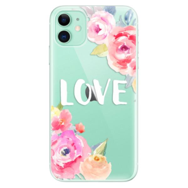 Silikonové odolné pouzdro iSaprio - Love na mobil Apple iPhone 11
