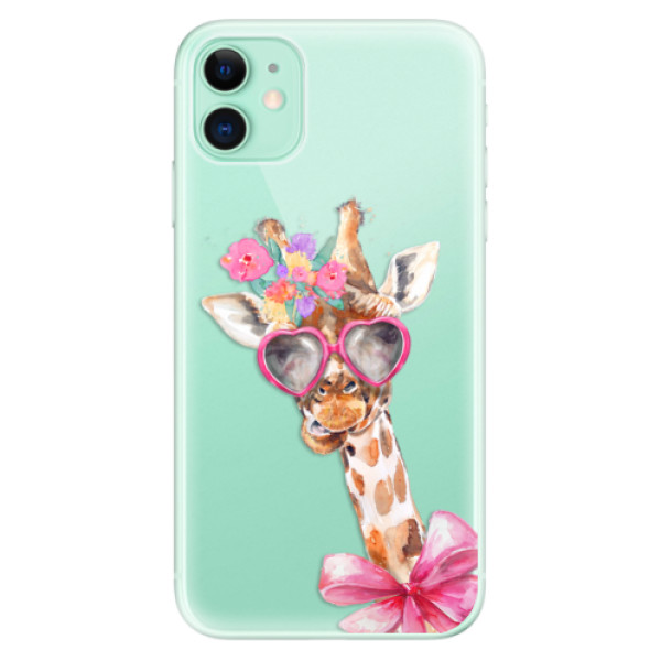 Silikonové odolné pouzdro iSaprio - Lady Giraffe na mobil Apple iPhone 11