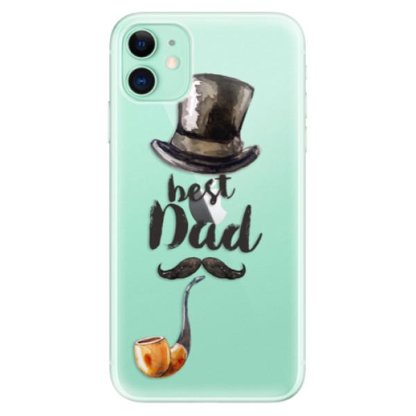 Silikonové odolné pouzdro iSaprio - Best Dad na mobil Apple iPhone 11