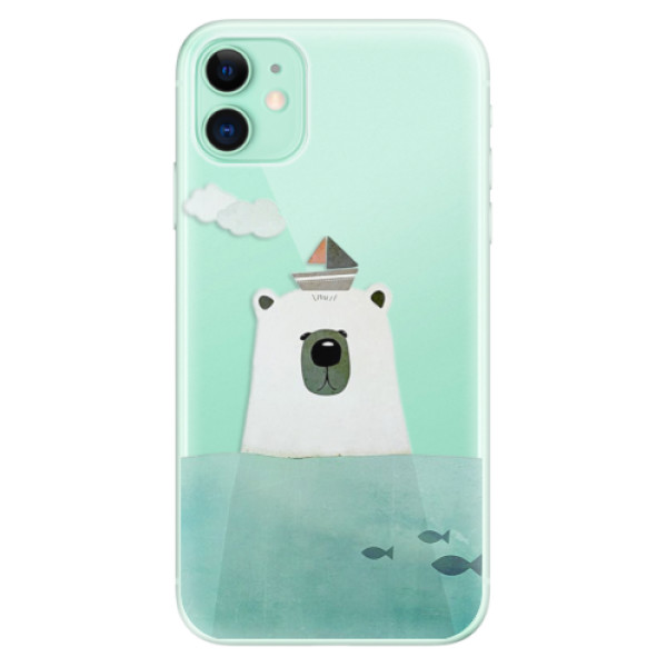 Silikonové odolné pouzdro iSaprio - Bear With Boat na mobil Apple iPhone 11