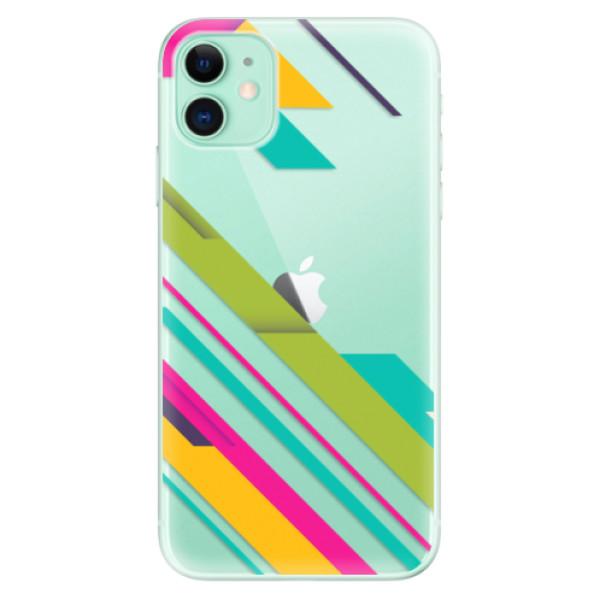 Silikonové odolné pouzdro iSaprio - Color Stripes 03 na mobil Apple iPhone 11