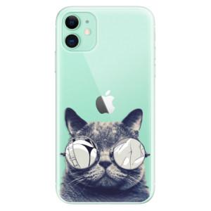 Silikonové odolné pouzdro iSaprio - Crazy Cat 01 na mobil Apple iPhone 11