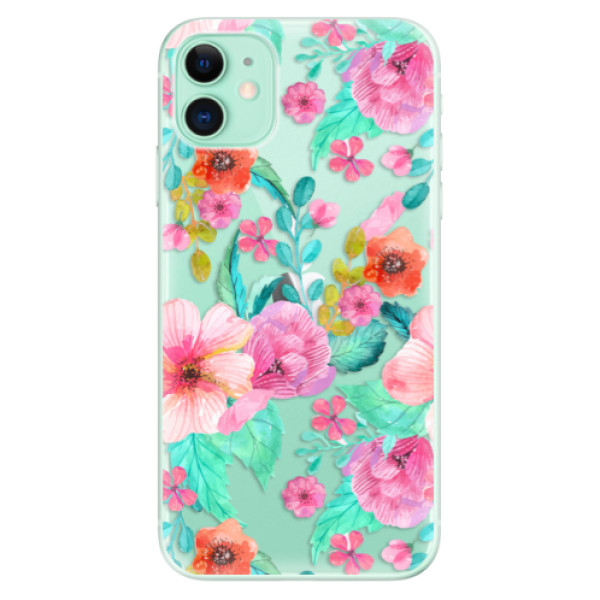 Silikonové odolné pouzdro iSaprio - Flower Pattern 01 na mobil Apple iPhone 11
