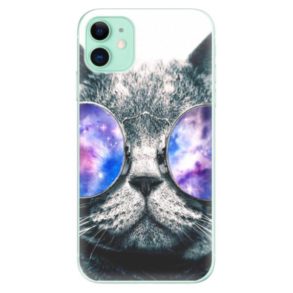 Silikonové odolné pouzdro iSaprio - Galaxy Cat na mobil Apple iPhone 11