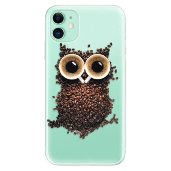 Silikonové odolné pouzdro iSaprio - Owl And Coffee na mobil Apple iPhone 11