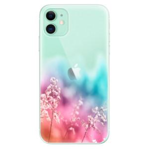 Silikonové odolné pouzdro iSaprio - Rainbow Grass na mobil Apple iPhone 11 - rozbaleno