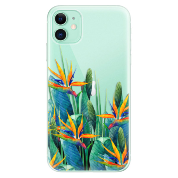 Silikonové odolné pouzdro iSaprio - Exotic Flowers na mobil Apple iPhone 11