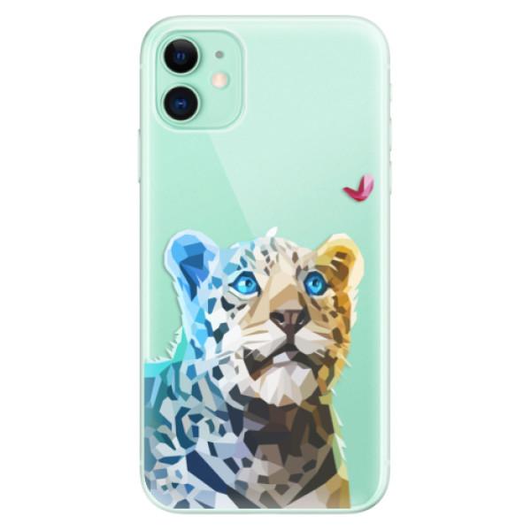 Silikonové odolné pouzdro iSaprio - Leopard With Butterfly na mobil Apple iPhone 11