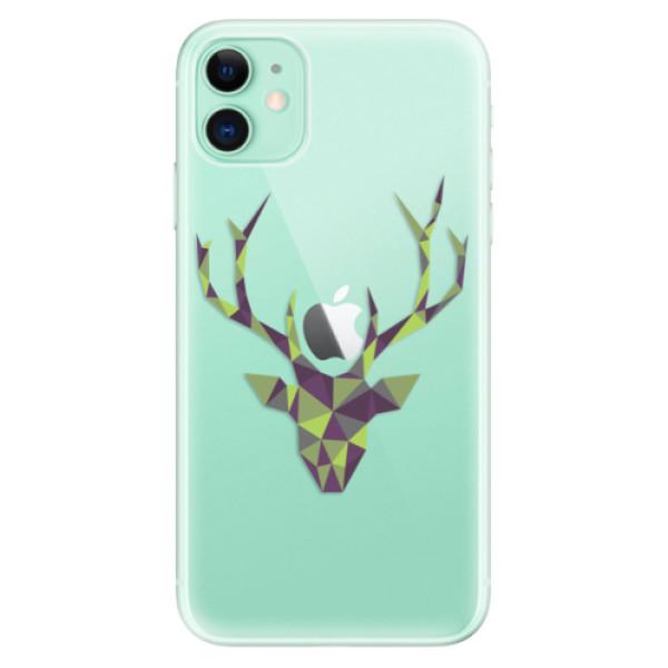 Silikonové odolné pouzdro iSaprio - Deer Green na mobil Apple iPhone 11