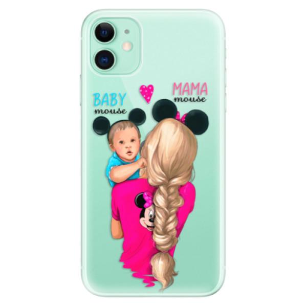 Silikonové odolné pouzdro iSaprio - Mama Mouse Blonde and Boy na mobil Apple iPhone 11