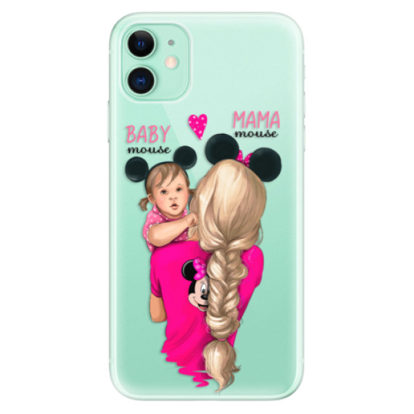 Silikonové odolné pouzdro iSaprio - Mama Mouse Blond and Girl na mobil Apple iPhone 11