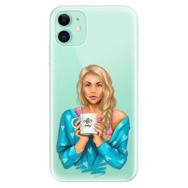 Silikonové odolné pouzdro iSaprio - Coffee Now Blond na mobil Apple iPhone 11
