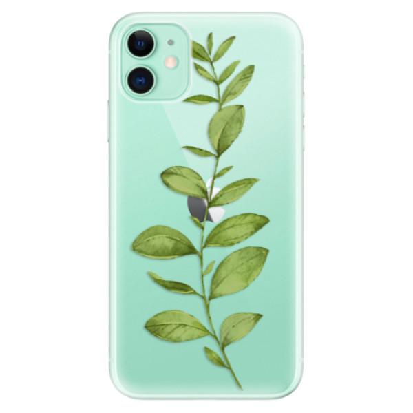 Silikonové odolné pouzdro iSaprio - Green Plant 01 na mobil Apple iPhone 11