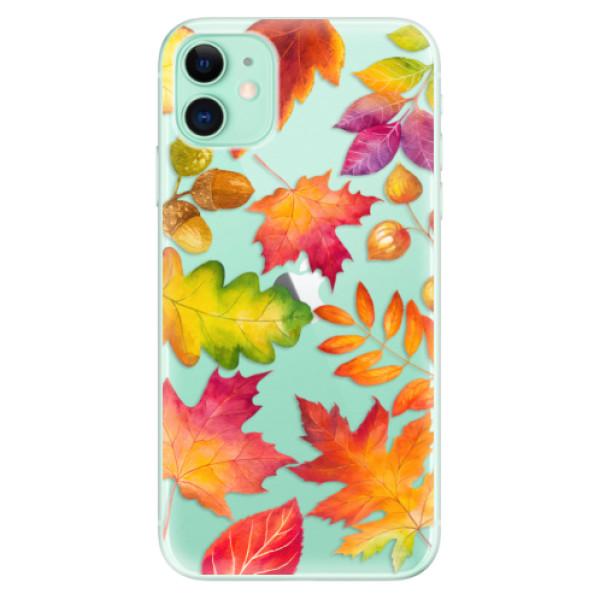 Silikonové odolné pouzdro iSaprio - Autumn Leaves 01 na mobil Apple iPhone 11