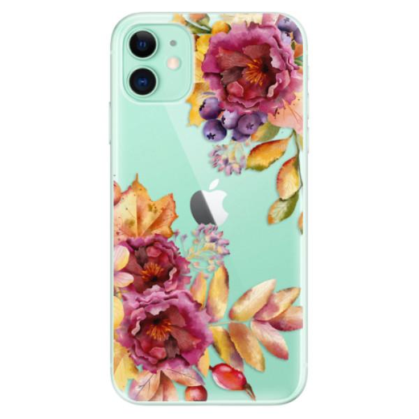 Silikonové odolné pouzdro iSaprio - Fall Flowers na mobil Apple iPhone 11