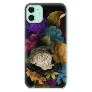 Silikonové odolné pouzdro iSaprio - Dark Flowers na mobil Apple iPhone 11
