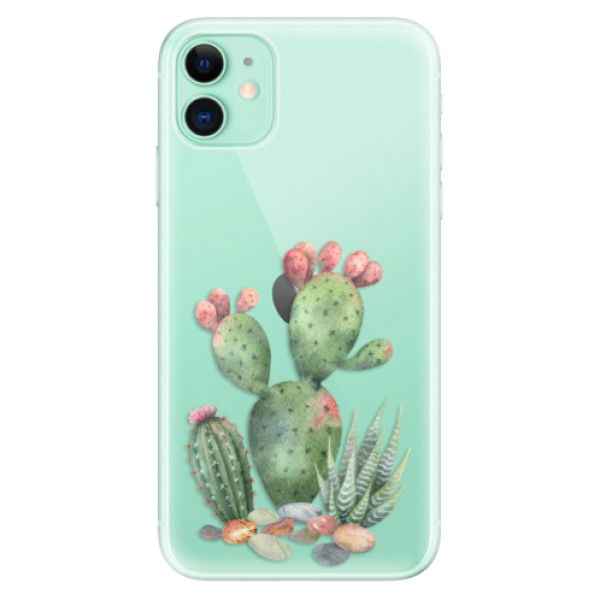 Silikonové odolné pouzdro iSaprio - Cacti 01 na mobil Apple iPhone 11