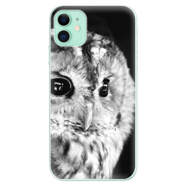 Silikonové odolné pouzdro iSaprio - BW Owl na mobil Apple iPhone 11