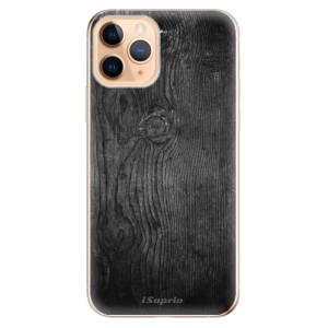 Silikonové odolné pouzdro iSaprio - black Wood 13 na mobil Apple iPhone 11 Pro