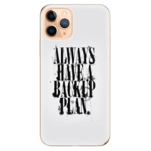 Silikonové odolné pouzdro iSaprio - Backup Plan na mobil Apple iPhone 11 Pro
