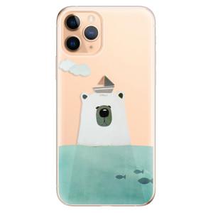 Silikonové odolné pouzdro iSaprio - Bear With Boat na mobil Apple iPhone 11 Pro