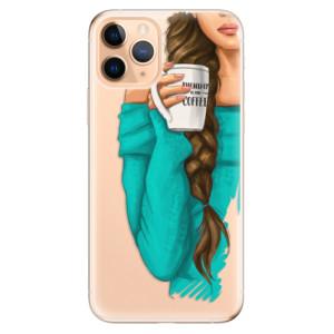 Silikonové odolné pouzdro iSaprio - My Coffee and Brunette Girl na mobil Apple iPhone 11 Pro