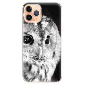 Silikonové odolné pouzdro iSaprio - BW Owl na mobil Apple iPhone 11 Pro