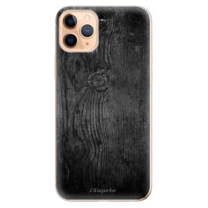 Silikonové odolné pouzdro iSaprio - black Wood 13 na mobil Apple iPhone 11 Pro Max