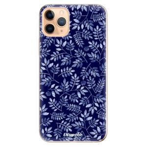 Silikonové odolné pouzdro iSaprio - Blue Leaves 05 na mobil Apple iPhone 11 Pro Max