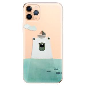 Silikonové odolné pouzdro iSaprio - Bear With Boat na mobil Apple iPhone 11 Pro Max