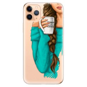 Silikonové odolné pouzdro iSaprio - My Coffee and Brunette Girl na mobil Apple iPhone 11 Pro Max