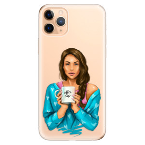 Silikonové odolné pouzdro iSaprio - Coffee Now Brunette na mobil Apple iPhone 11 Pro Max