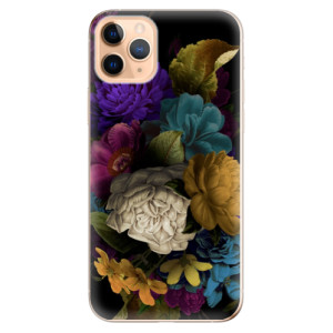 Silikonové odolné pouzdro iSaprio - Dark Flowers na mobil Apple iPhone 11 Pro Max