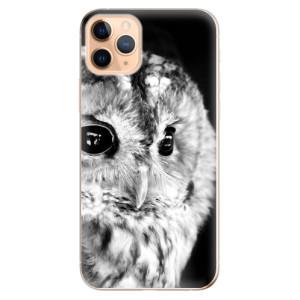Silikonové odolné pouzdro iSaprio - BW Owl na mobil Apple iPhone 11 Pro Max