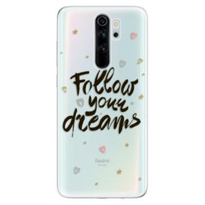 Silikonové odolné pouzdro iSaprio - Follow Your Dreams black na mobil Xiaomi Redmi Note 8 Pro