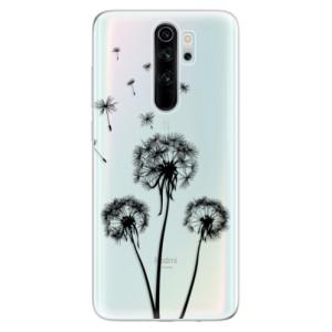 Silikonové odolné pouzdro iSaprio - Three Dandelions black na mobil Xiaomi Redmi Note 8 Pro